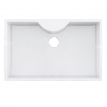 Premier Oxford Ceramic Kitchen Sink 1.0 Bowl 795mm L x 500mm W - White