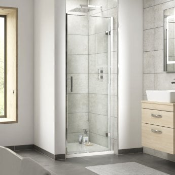 Nuie Pacific Hinged Shower Door 700mm Wide - 6mm Glass