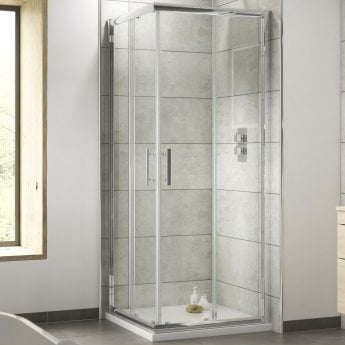 Nuie Pacific Corner Entry Shower Enclosure 760mm x 760mm - 6mm Glass