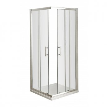 Nuie Pacific Corner Entry Shower Enclosure, 900mm x 900mm, 6mm Glass