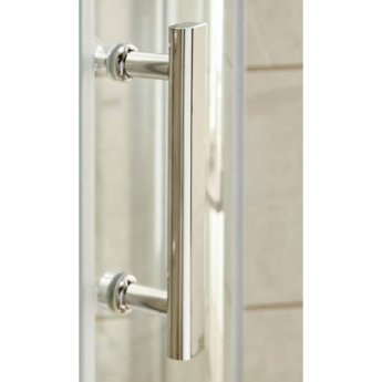 Nuie Pacific Hinged Shower Enclosure 800mm x 800mm with Shower Tray - 6mm Glass