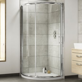 Nuie Pacific Single Entry Quadrant Shower Enclosure 860mm x 860mm - 6mm Glass