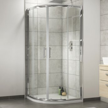 Nuie Pacific Quadrant Shower Enclosure 900mm x 900mm with Shower Tray - 6mm Glass