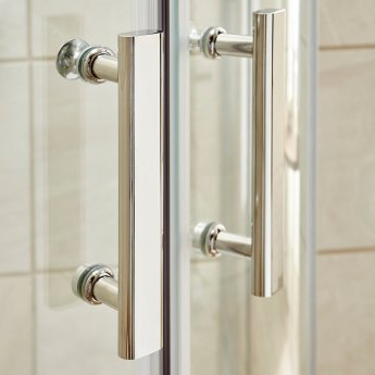 Nuie Pacific Offset Quadrant Shower Enclosure 1200mm x 800mm with Shower Tray LH - 6mm Glass