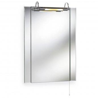 Premier Pallas Illuminated Bathroom Mirror, 750mm x 550mm - Stainless Steel