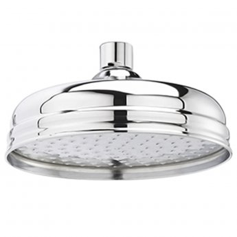 Premier Pioneer Traditional Twin Concealed Shower Valve, Fixed Shower Head, Curved Arm, Chrome