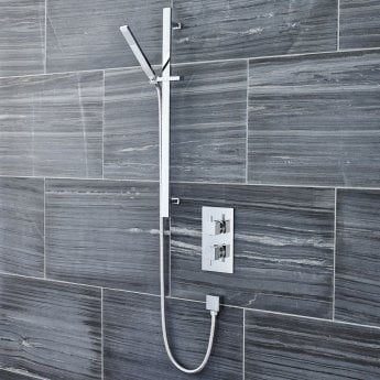 Premier Pioneer Square Shower Valve Dual Handle - Chrome