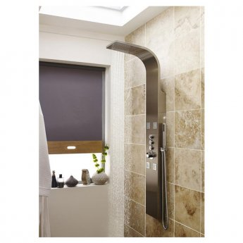 Premier Pirlo Thermostatic Dream Shower Panel, 4 Body Jets, Stainless Steel