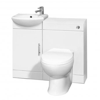 Nuie Sienna Combination Furniture Pack 400mm Vanity Unit 500mm WC Unit 1 Tap Hole