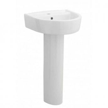 Premier Provost Basin and Full Pedestal 420mm Wide - 1 Tap Hole