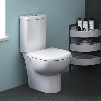 Premier Provost Close Coupled Toilet WC Push Button Cistern 620mm Projection - Excluding Seat
