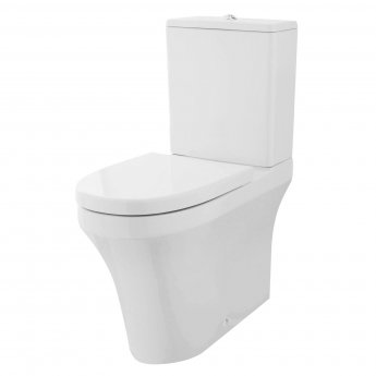 Premier Provost BTW Close Coupled Toilet with Dual Flush Cistern - Excluding Seat