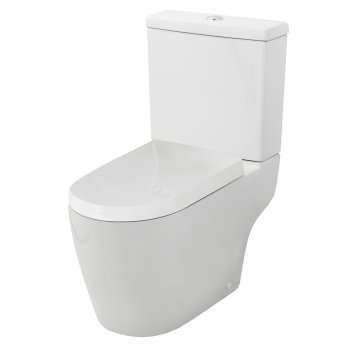 Premier Provost Close Coupled Toilet WC Push Button Cistern 670mm Projection - Excluding Seat