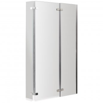 Nuie Pacific L-Shaped Double Hinged Bath Screen 1400mm H x 812mm W - 6mm Glass