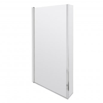 Nuie Pacific L-Shaped Hinged Bath Screen 1430mm H x 808mm W - 6mm Glass