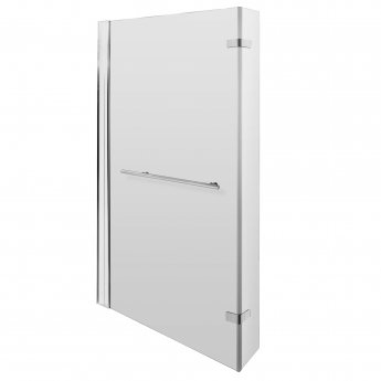 Nuie Quattro Fixed Bath Screen with Hinged End Panel and Towel Rail 1400mm High