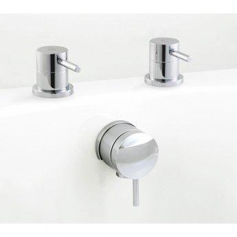 Premier Quest Bath Filler Side Valves, Chrome