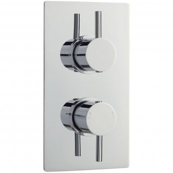 Nuie Quest Rectangular Concealed Shower Valve with Diverter Dual Handle - Chrome