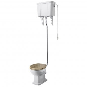 Premier Richmond High Level Toilet Pan and Cistern (excluding Flush Pipe, Pull Chain and Seat)