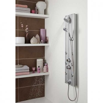 Premier Ripple Thermostatic Shower Tower Panel 6 Body Jets - Chrome