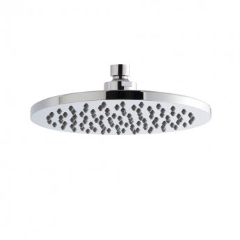 Premier Round Fixed Shower Head, 200mm Diameter, Chrome