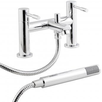 Nuie Series 2 Basin Taps and Bath Shower Mixer Tap Pillar Mounted, Chrome