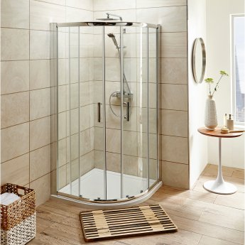 Nuie Shower Enclosure Pack 900mm Quadrant Twin Shower and Kit