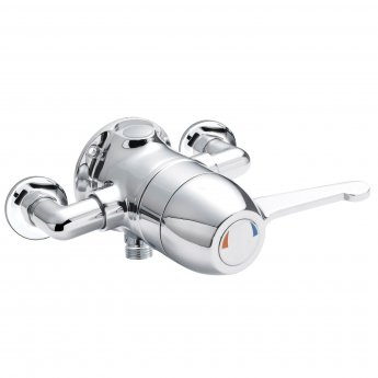 Nuie Exposed Sequential Thermostatic Shower Valve Lever Handle - Chrome