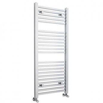 Premier Straight Ladder Towel Rail 1200mm H x 500mm W - Chrome