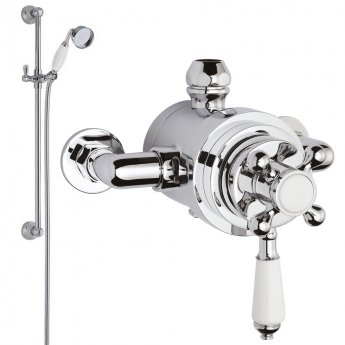 Nuie Traditional Dual Exposed Mixer Shower with Shower Kit