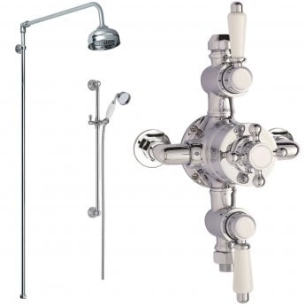 Nuie Traditional Triple Exposed Mixer Shower with Shower Kit + Fixed Head