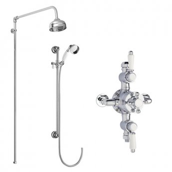 Premier Traditional Triple Exposed Mixer Shower with Shower Kit + Fixed Head