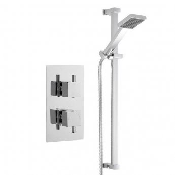 Nuie Square Dual Concealed Mixer Shower with Shower Kit