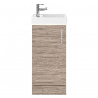 Nuie Vault Floor Standing 1-Door Vanity Unit with Basin Driftwood - 400mm Wide