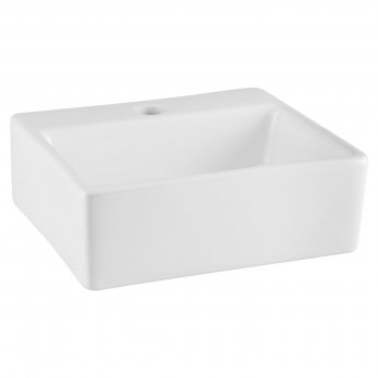 Nuie Vessels Rectangular Countertop Basin 335mm Wide - 1 Tap Hole