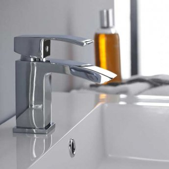Premier Vibe Mono Basin Mixer Tap and Bath Filler Tap Pillar Mounted, Chrome
