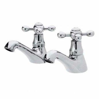 Premier Viscount Basin Taps and Bath Shower Mixer Tap - Chrome
