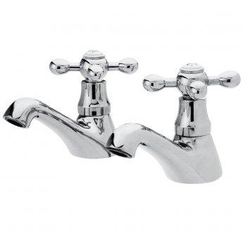 Premier Viscount Range Bath and Basin Taps, Chrome