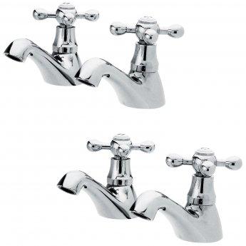 Nuie Viscount Range Bath and Basin Taps, Chrome