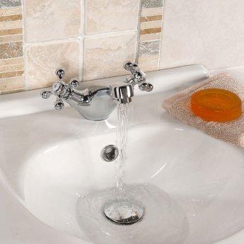 Nuie Viscount Range Mono Basin and Bath Shower Mixer - Chrome