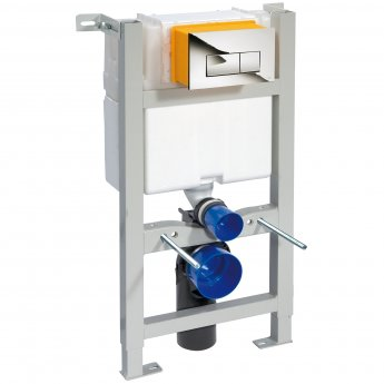 Nuie Mid-Height Wall Hung Toilet Frame with Dual Flush Concealed Cistern