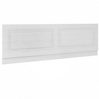 Premier York Bath Front Panel 560mm H x 1800mm W - Porcelain White Ash
