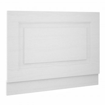 Nuie York Bath End Panel 560mm H x 800mm W - Porcelain White Ash