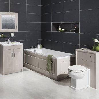 Nuie York Bath Front Panel 560mm H x 1700mm W - Woodgrain Grey