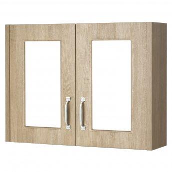 Premier York 2 Door Mirror Cabinet 800mm Wide - Gladstone Oak