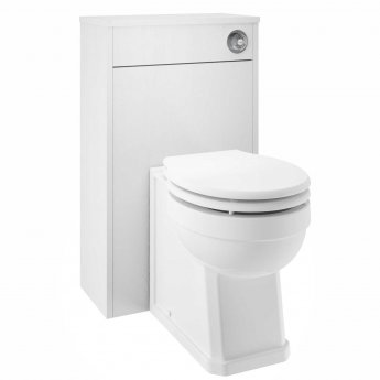 Nuie York WC Toilet Unit 500mm Wide - White Ash