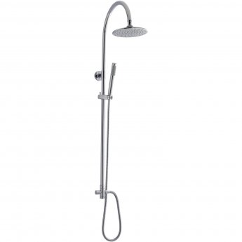 Nuie Ocean Manual Concealed or Exposed Shower Mixer with Single Kit + Fixed Head