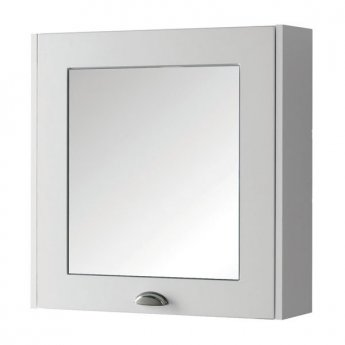 Prestige Astley Mirror Cabinet 600mm Wide - Matt White