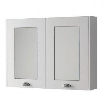 Prestige Astley Mirror Cabinet 800mm Wide - Matt White