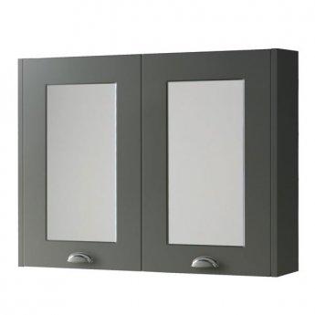 Prestige Astley Mirror Cabinet 800mm Wide - Matt Grey